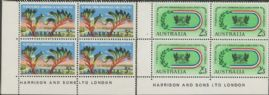SG 346-7 ACSC 390z., 391z. 7th Commonwealth Games, Perth set of 2 imprint blocks (AE1/205)